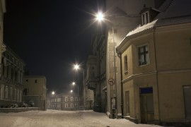 Street light project in town of Bauska, Latvia
